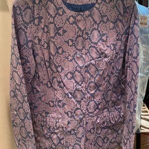 BNWT Blue/Lavender soft leather/Suede Jacket